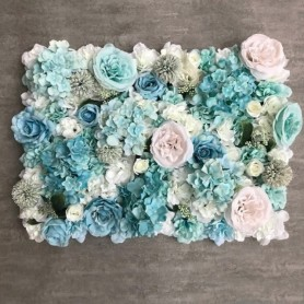 3D Backdrop Wall Wedding Decoration Artificial Flower Wall Panel for Home Decor Backdrops Baby Shower Silk Rose Flowers, Home