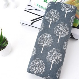 2Meters Table Cloth Fabric Art Japanese Simple Gray Cotton Linen Cloth Rectangular Cloth Cotton Fabric Accessory 150cm width, Ho