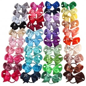 4 inch Hair Bow WITH Color Elastic Bands Baby Girls Kids Ponytail Hair Holder Jojo Bows Hair Accessories Elastic Loop Bobbles, H