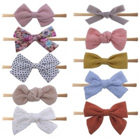 10 PCS Baby Toddler Headbands and Bows Newborn Headband Infant Baby Girls Kids Nylon Hairbands Hair Bow Accessories, Home