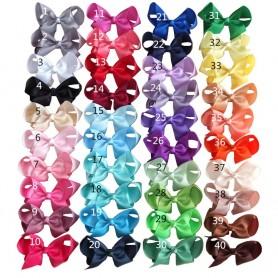 4 inch Jojo Hair Bow Clips Baby Girls Hair Accessories Boutique Grosgrain Ribbon Hairbows Dancing JOJO SIWA Hair Bow 40PCS/LOT,