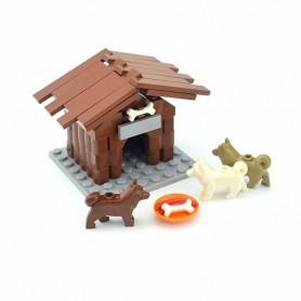 City Farm Animals Building Blocks For Kids MOC Bricks Parts Chicken Coop Hen House kennel Toys For Children Boy Girl DIY Gifts,