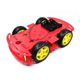 Smart Car Kit 4WD Smart Robot Car Chassis Kits Car With Speed Encoder and Battery Box Diy Electronic Kit for Arduino, Home