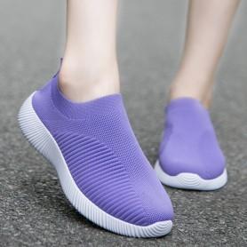 Women Vulcanized Shoes High Quality 2021 New Women Sneakers Slip On Flats Shoes Women Loafers Plus Size 43 Walking Flat, Home