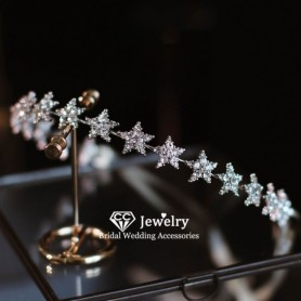 CC Headbands Women Hair Accessories Wedding Hairwear Engagement Jewelry Star Shape Headdress Romantic Hairbands Party Gift HS56,