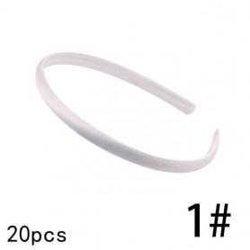 20pcs Multicolor DIY Satin Headbands Women Girls Plain Crafts Ribbon Covered Plastic Hair Band Accessories Boho Headwear, Home