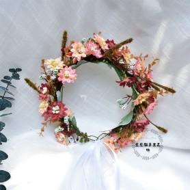 CC Flower Headband Wreath Hairband 100 Handmade Wedding Hair Accessories for Women Bride Garland Girls Seaside Headpieces DD04,