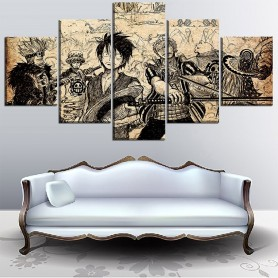 5 Piece Canvas Art High Quality Print Painting Panel Artistic Characters Picture Framework Anime Poster Modern Home Decoration,