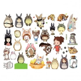 60*90cm Hayao Miyazaki Kitten Cartoon Anime My Neighbor Totoro Wall Stickers Children's Bedroom Wallpaper Kindergarten Stickers,