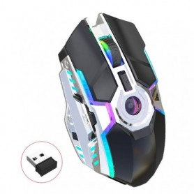 UTHAI DB28 The new rechargeable RGB light-emitting wireless mouse 2.4G mouse ergonomic design is suitable for laptop mouse, Home