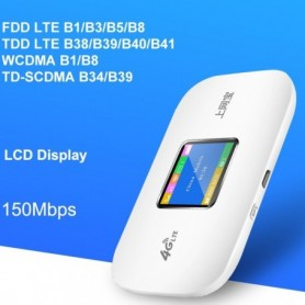 4G Wifi Router mini router 3G 4G Lte Wireless Portable Pocket wi fi Mobile Hotspot Car Wi-fi Router With Sim Card Slot, Home