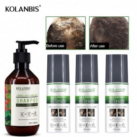 4pc oily growth bald spray tonic and ginseng hair loss regrowth shampoo for alopecia men fast follicle treatment essential oils,