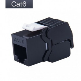 Gigabit Ethernet RJ45 CAT6 Colorful Keystone Jacks Toolless Type Network Modules Tool-free Connection 7 Colors For Optional