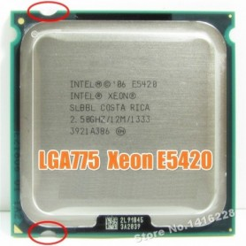 works on LGA 775 motherboard Xeon E5420 Processor 2.5GHz 12M 1333Mhz close to Core 2 Quad Q6600 cpu, Home