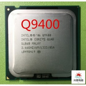 Intel Core 2 Quad Q9400 q9400 CPU Processor (2.66Ghz/ 6M /1333GHz) Socket 775 Desktop CPU, Home
